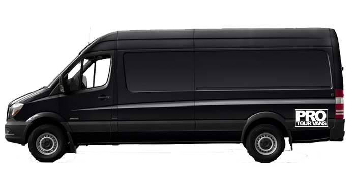 Luxury Black Mercedes Benz Splitter Van